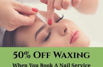 waxing nail special